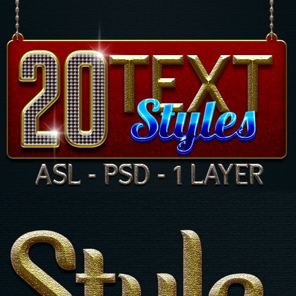 20 Text Layer Styles