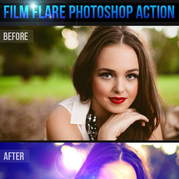Film Flare Photoshop Action