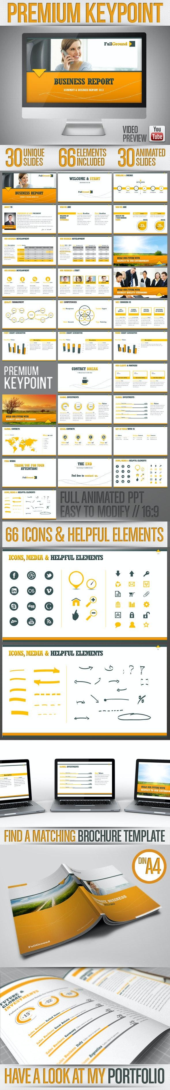Fullground - Keynote Presentation Template  - Business Keynote Templates
