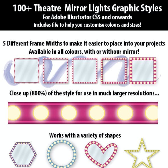 100+ Theatre Mirror Lights Graphic Styles