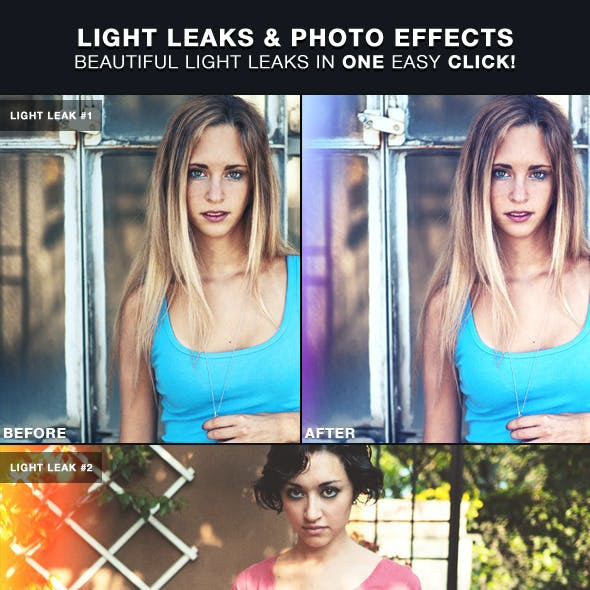 Light Leaks & Photo Effects | Photoshop Actions