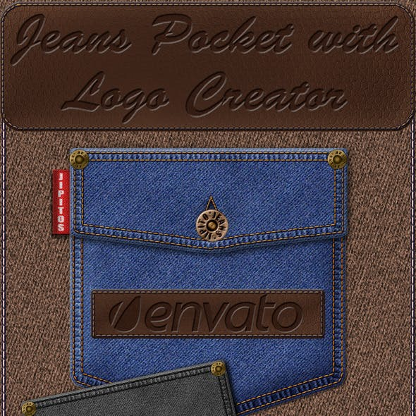 Jeans Pocket with Logo Creator
