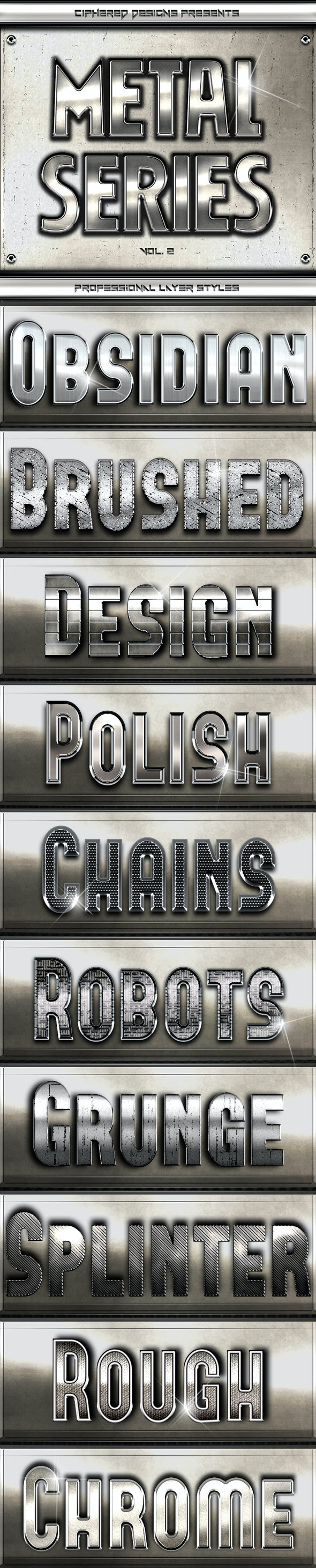Metal Series II - Professional Layer Styles - Text Effects Styles
