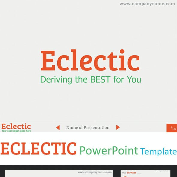 Eclectic PowerPoint Presentation Template