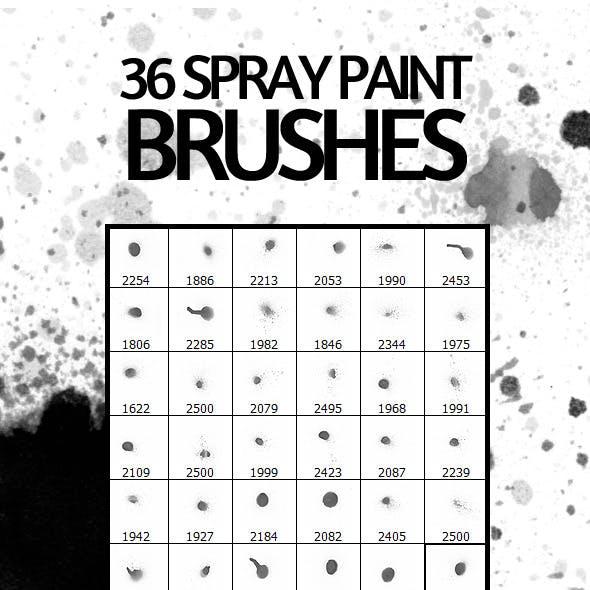 36 Spray Paint Photoshop Brushes