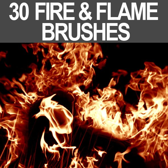 30 Fire & Flame Brushes