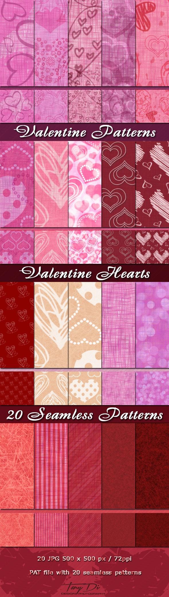 Valentine Patterns - Miscellaneous Textures / Fills / Patterns
