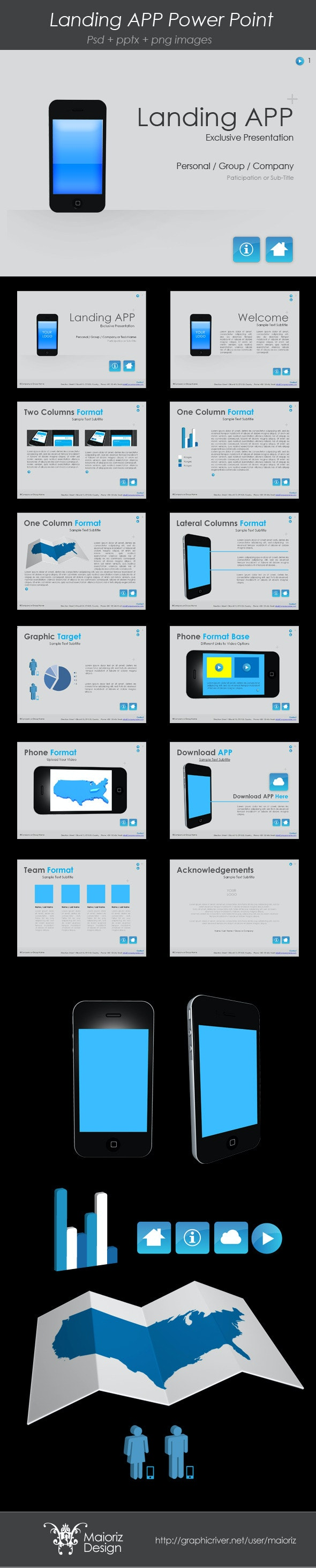 Landing App PowerPoint Template - PowerPoint Templates Presentation Templates