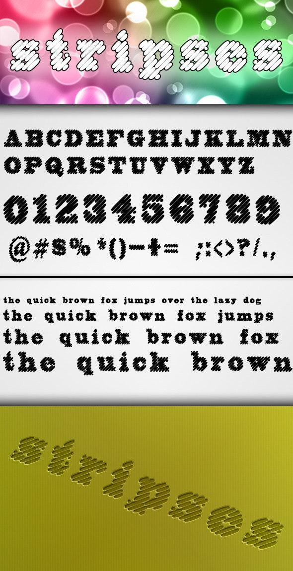 Stripses Font - Decorative Fonts