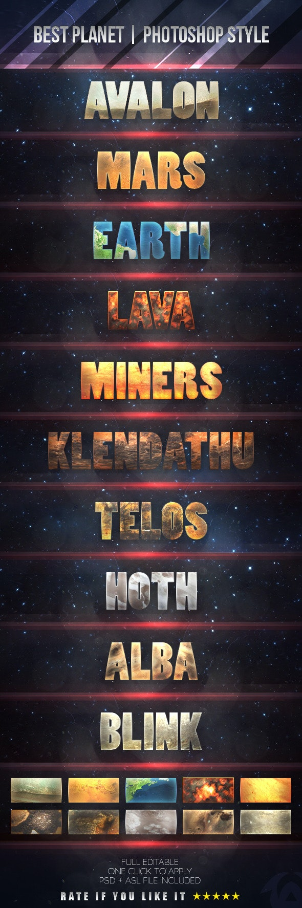 Planet - PhotoShop Styles - Text Effects Styles