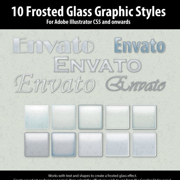 10 Frosted Glass Graphic Styles for Illustrator