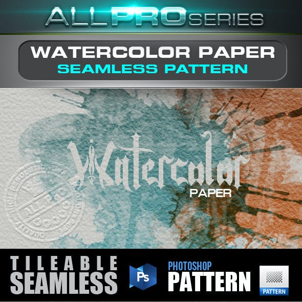 Watercolor Paper Seamless-Tileable Pattern