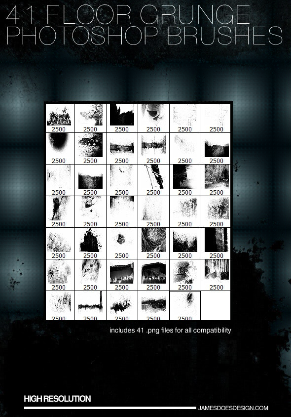 41 Floor Grunge Brushes - Grunge Brushes