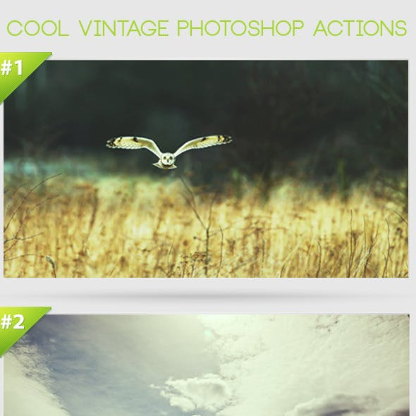 Cool Vintage Photoshop Actions