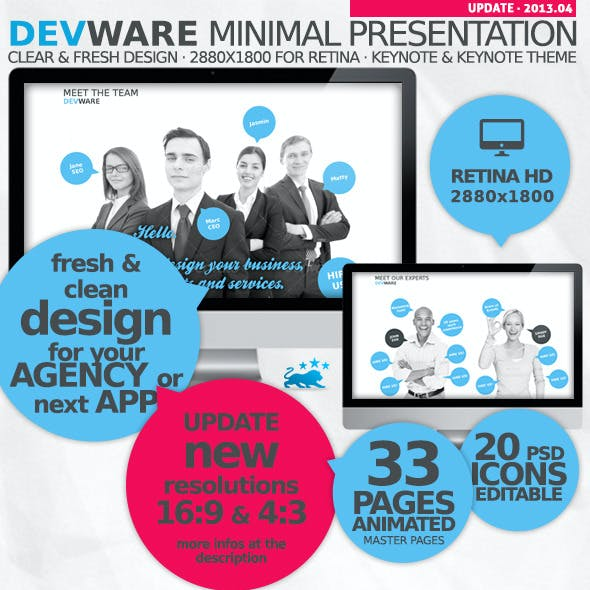 Devware 33 Pages Keynote Presentation