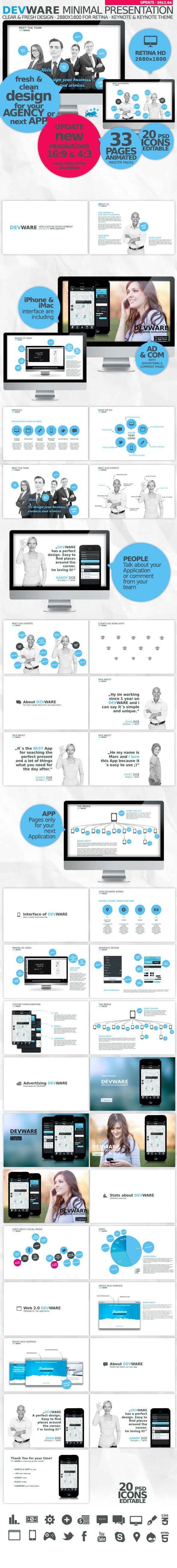 Devware 33 Pages Keynote Presentation - Business Keynote Templates