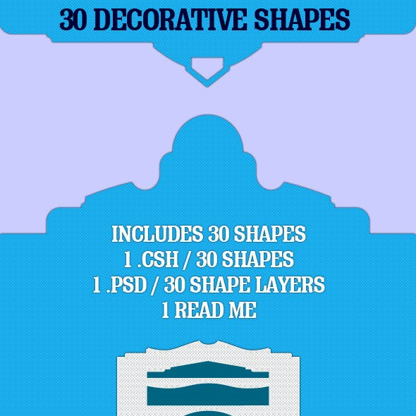 30 Decorative Shapes