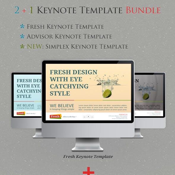 2+1 Keynote Templates Bundle