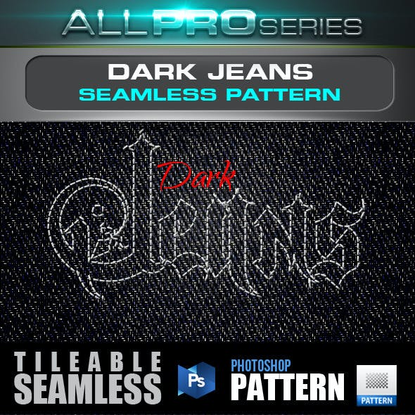 Dark Denim Seamless Pattern