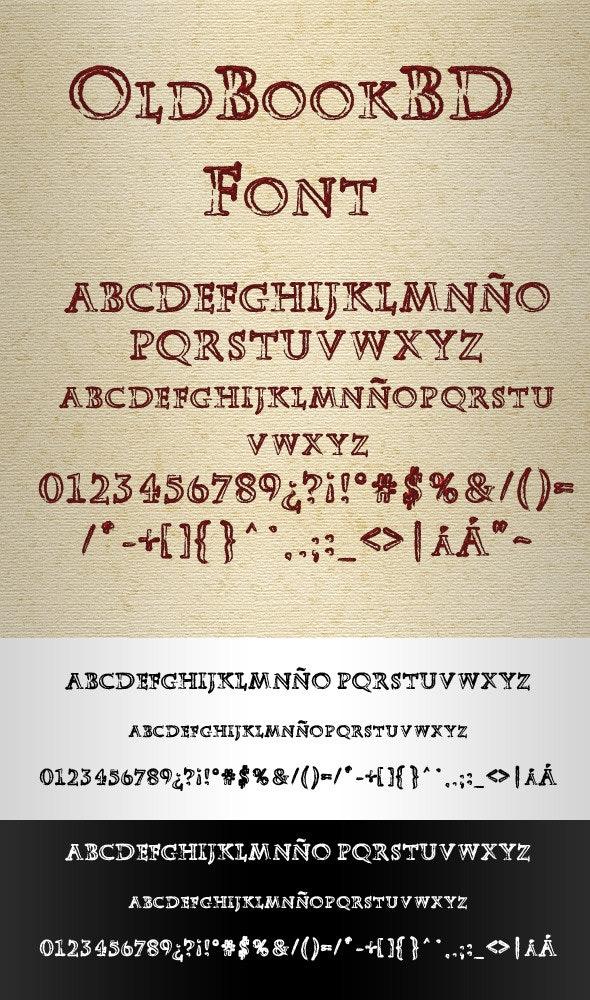 OldBookBD Blank Font - Gothic Decorative