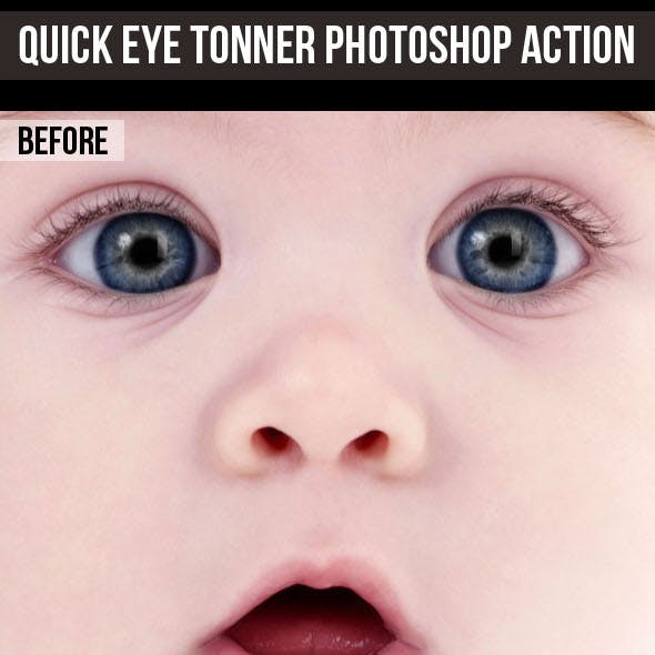 Quick Eye Toner Photoshop Action