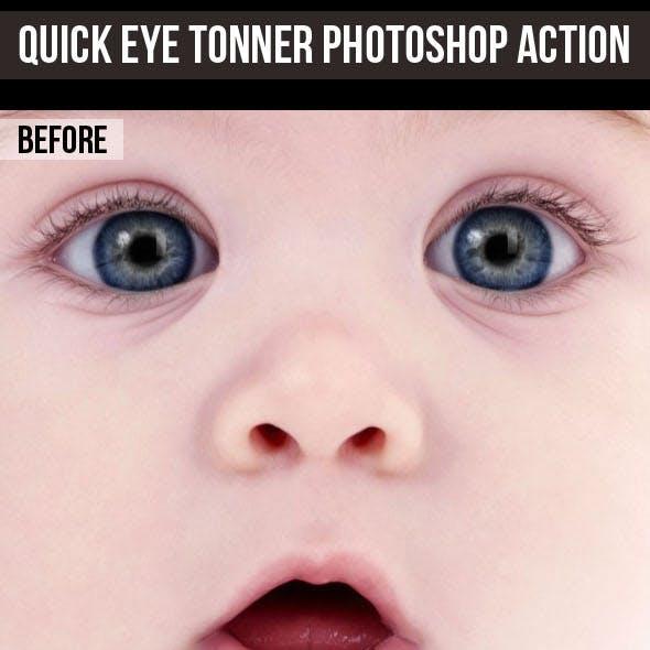 Quick Eye Toner Photoshop Action