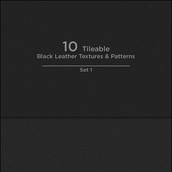 10 Tileable Black Leather Textures/Patterns