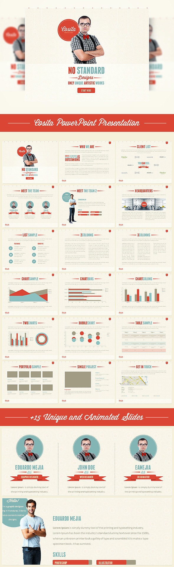 Cosita PowerPoint Presentation - Creative PowerPoint Templates