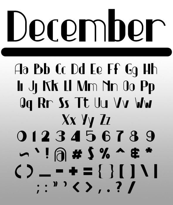 December - Sans-Serif Fonts