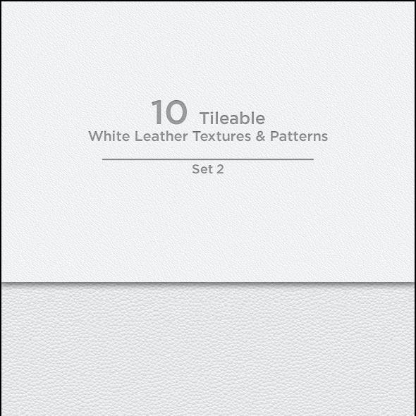 10 Tileable White Leather Textures/Patterns