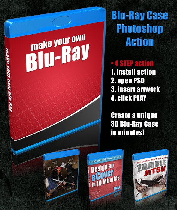 Blu-Ray Case Action Script - Actions Photoshop