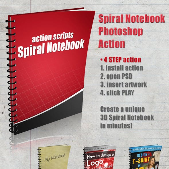 3D Spiral Notebook Action Script