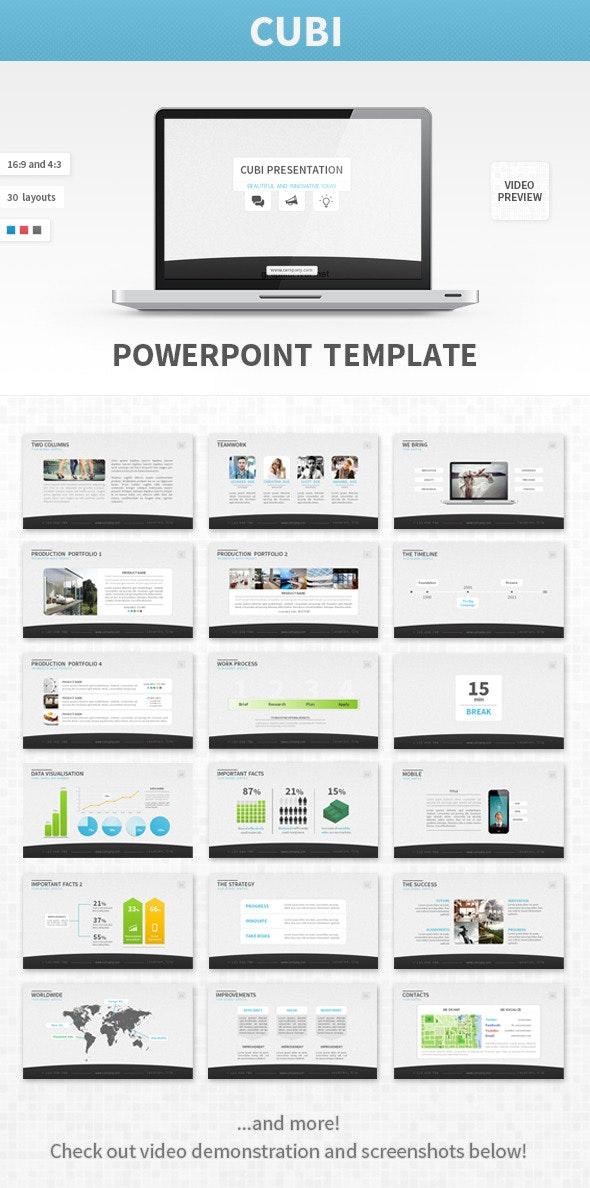 Cubi PowerPoint Template - Business PowerPoint Templates