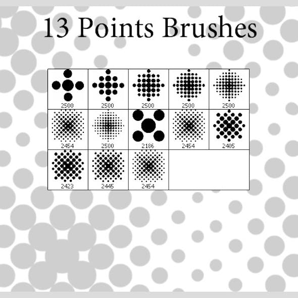 13 Points Brushes