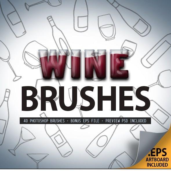 Wine Glass & Bottle Brush Set