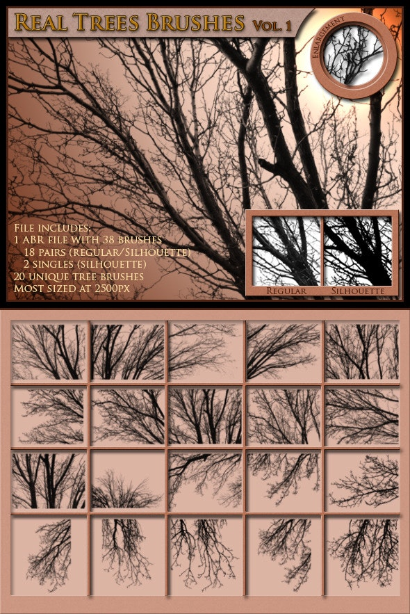 Real Trees Brushes, Volume 1 - Texture Brushes
