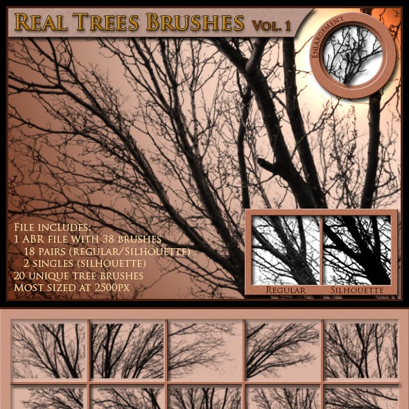 Real Trees Brushes, Volume 1