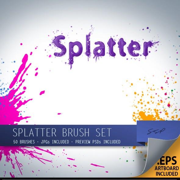 50 Splatter Brushes