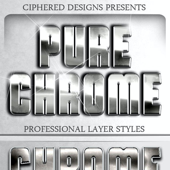 Pure Chrome - Professional Layer Styles
