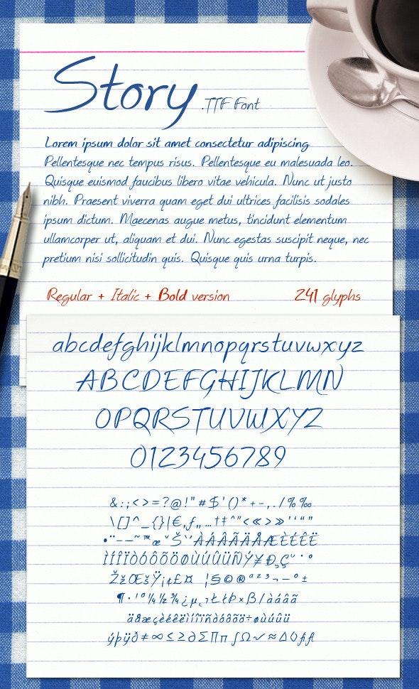 Story Font - Hand-writing Script