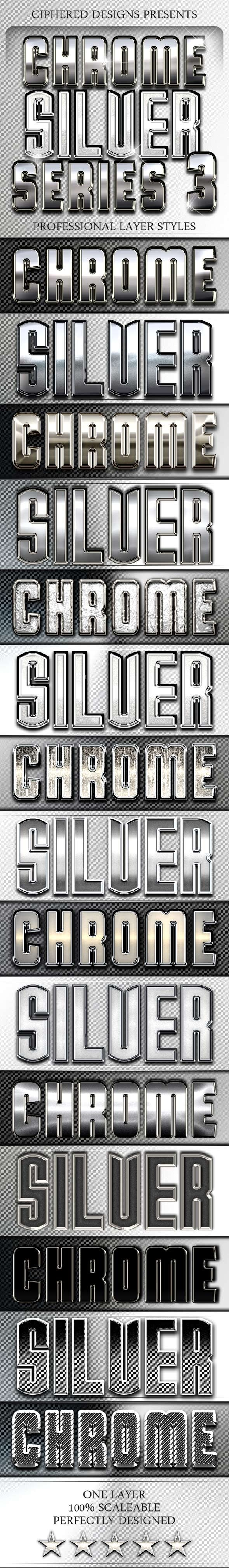 Chrome & Silver Series III - Professional Styles - Text Effects Styles