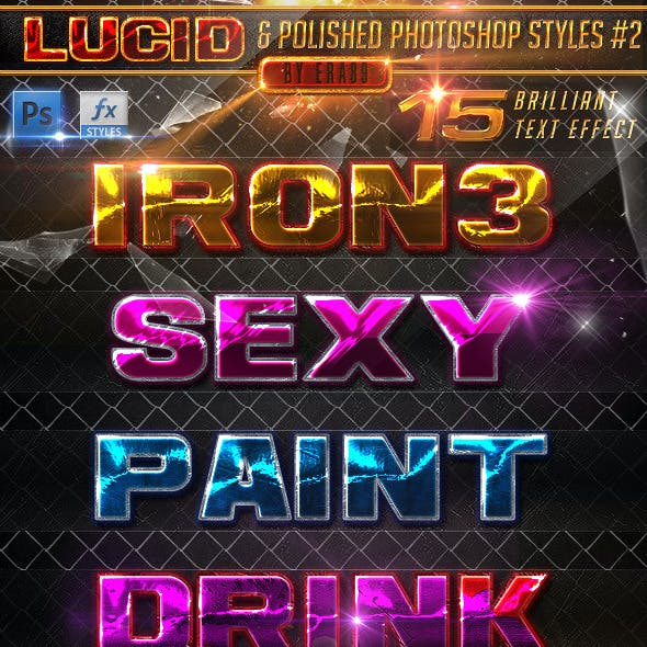Lucid and Polished Photoshop Styles Pack 2