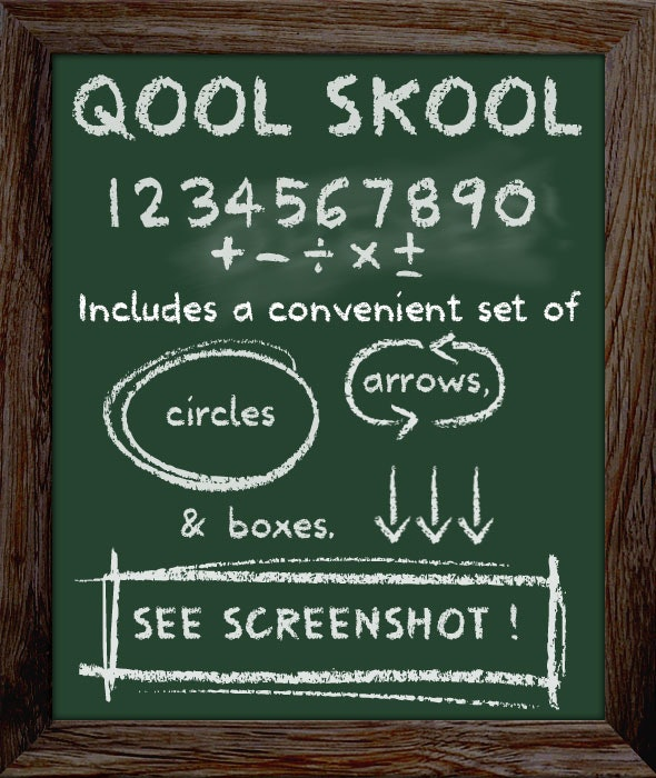 School Type Lettering - Chalkboard Font - Handwriting Fonts