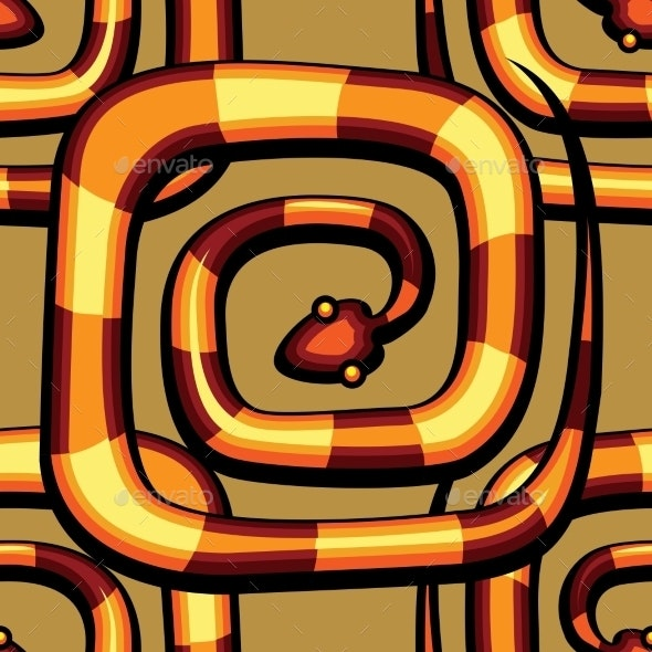 Abstract Serpent Pattern - Patterns Decorative