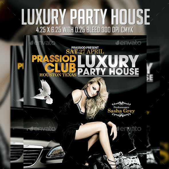 Luxury Party House Flyer Template