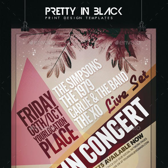 Autumn Concert Flyer Template