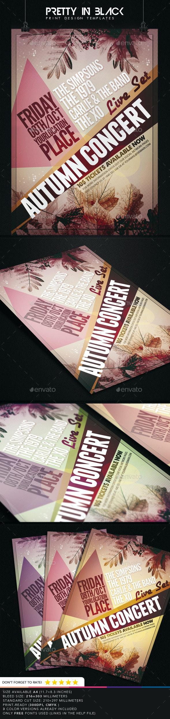 Autumn Concert Flyer Template - Print Templates