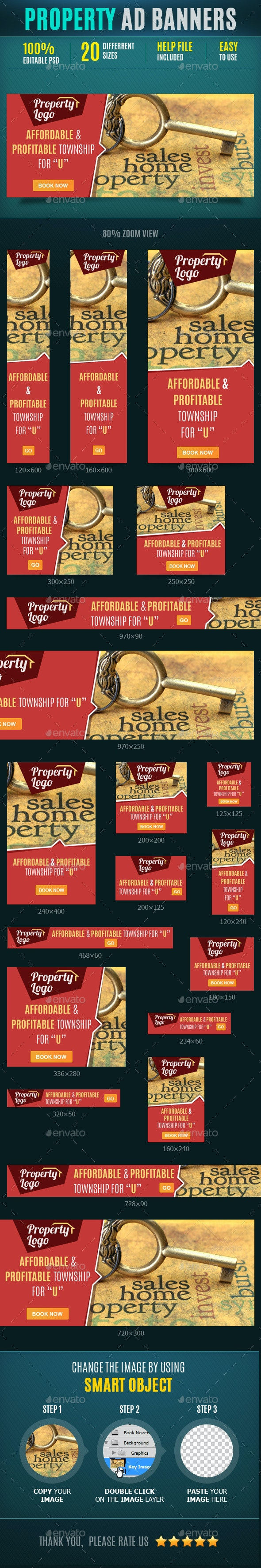 Property Web Banners - Banners & Ads Web Elements