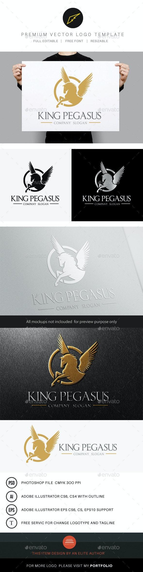King Pegasus - Crests Logo Templates
