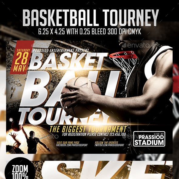 Basketball Tourney Flyer Template